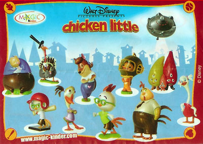 Европейский вкладыш серии Chicken Little (2005)